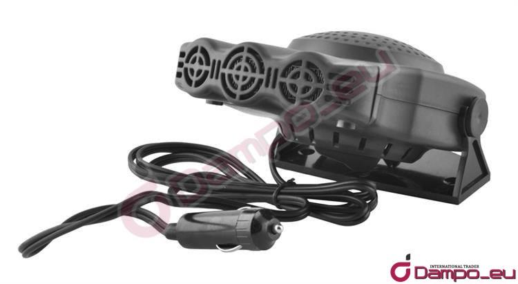 /><br /> <br /> <big><big>Ohřívač  vzduchu do auta napájen z výstupu zapalovače s regulací teplého a  studeného vzduchu. Díky tomu může fungovat jako tepelné vytápění v ziměa  jako větrák v létě. Ohřívač lze trvale<br /> nainstalovat na nastavitelné  noze pomocí dodané oboustranné lepicí pásky nebo kovových šroubů. Tím  lze připevnit ohřívač směrem na čelní sklo nebo na řidiče či  spolujezdce. Noha je otočná<br /> o 360° s nastavitelnou výškou.  Zabudovaná praktická rukojeť, která umožňuje pohodlné použití ohřívače  při rozmrazování některých částí vozidla a zámků. Balení obsahuje kabel s  koncovkou pro připojení do zapalovače.</big></big><br /> <img style=