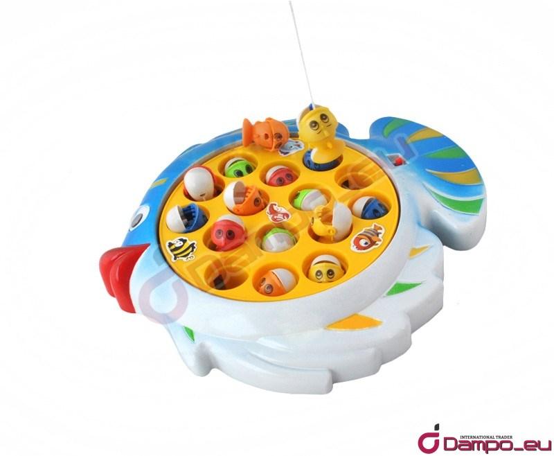 /><br /> <br /> <big><big>Zábavná  hra, při které se pomocí prutů chytají na háčky ryby plovoucí na  hladině. Děti si užijí při chytání ryb spousty legrace, procvičí jemnou  motoriku, soustředěnost a naučí se rozeznávat některé mořské živočichy.  Po slovení celého bazénku vyhrává ten, kdo nasbíral nejvíce bodů.</big></big><br /> <img style=