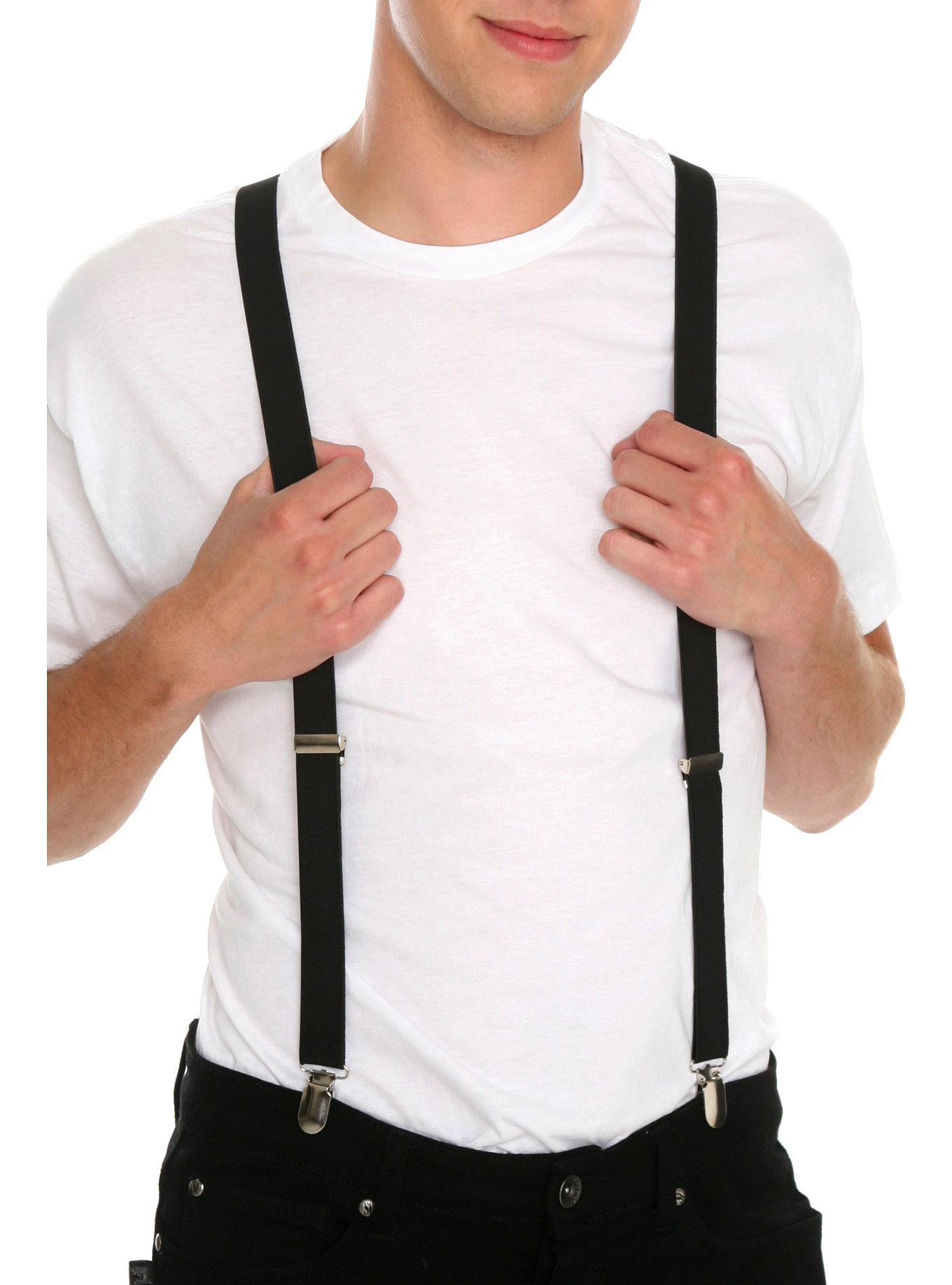 If you're going to be rocking suspenders and a suit, stick to buttons, please. Suspenders also look great with both your standard tie as well as the quirkier bow tie. If you're going to for a vintage look, don't be afraid to pair your bow tie and suspenders together.