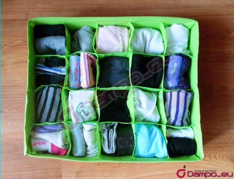 /></big></big><br /> <br /> <br /> <br /> <br /> <big><big>Organizér  vám dovolí udržovat pořádek, ale také rychle najít ponožky, spodní  prádlo, kravatu nebo pásek, což zejména ráno, kdy spěcháme do práce nebo  do školy, je k nezaplacení.</big></big><br /> <big><big><img style=