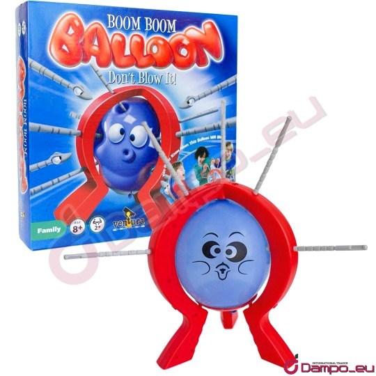/><br /> <br /> <br /> Představujeme Vám velmi zábavnou a napínavou zručnostní hru pro děti.  Kdo prohraje? Komu praskne nafukovací balónek? Pravidla jsou jednoduchá a  dítě nepotřebuje umět ani číst, pouze počítat očka na kostce, která mu  ukáže o kolik kliknutí musí postoupit. Hra je určena dětem od 3 let.  Balónek je určrn 2 – 4 hráčum. Až se Vám podaří prasknout všechny  balónky v sadě, můžete je nahradit obyčejnými nafukovacími, které  koupíte v každém hračkářství. <br /> <br /> <img style=