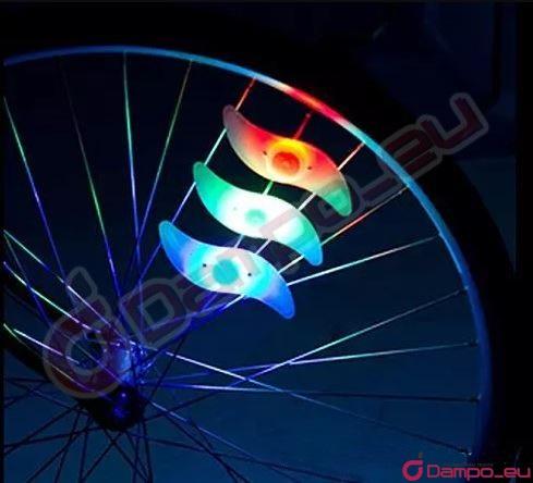 światło Lampka Led Na Koło Rowerowe Szprychy Rgb