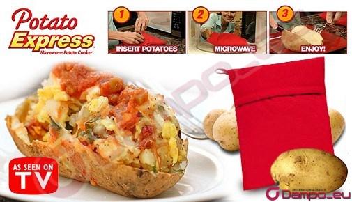 /></big></big><br /> <big><big>Kapsa funguje se všemi druhy brambor, mohou se v ní péct bílé, červené, sladké, batáty aj.<span style=